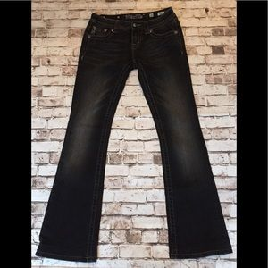 Miss me black signature rise boot cut jeans